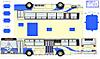 明石市営バス0132号車ペーパークラフト